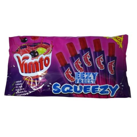 Vimto Eezy Freezzy Squeezy Ice Pops 540ml (Pack of 18)